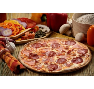 Pizza Quattro Carne 40cm